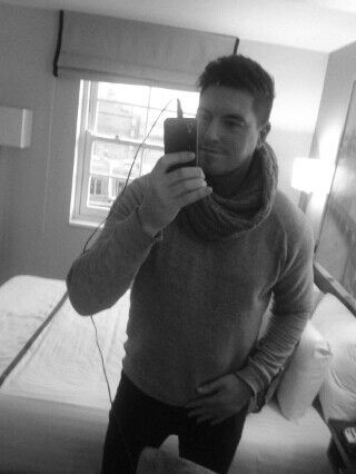 scarf,black & white,self,man