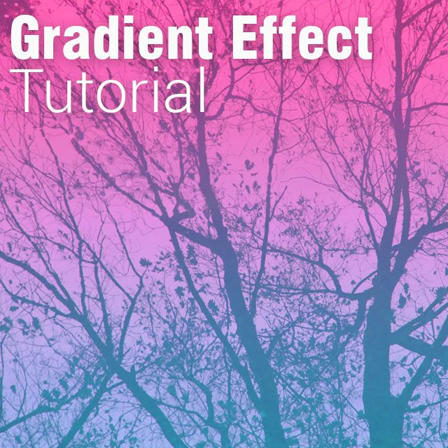 how to use PicsArt gradient effect
