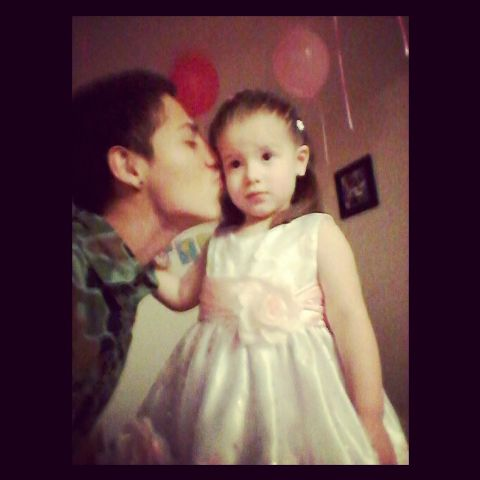my baby sister & me <3  she turned 2 yesterday, time goes by fast but ill always be by her side  I love her so much <33 id beat any niggas ass if they hurt her when she grows older happy birthday baby angie <3