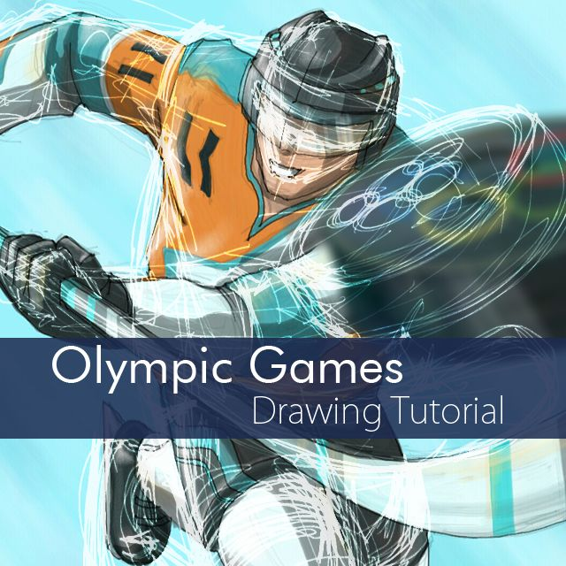 how to draw Olympic games step by step