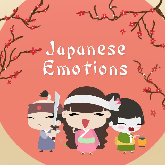 Japanese emotions clipart package