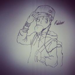rubber one piece manga e anime followme followparty picsartistic picsartdraw picsart