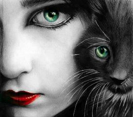 cute pets & animals black & white people color splash