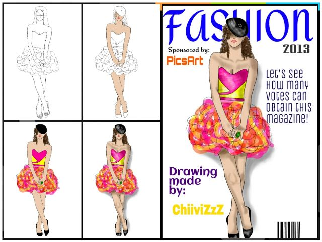 how to draw fashion step by step
