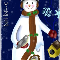 dcsnowman drawing christmas winter snow