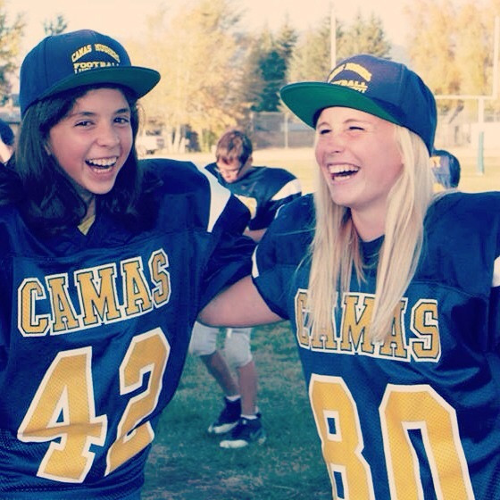 Luci and I (: #wereawesome#footballplayers