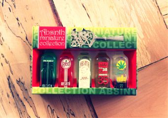 prague absinth collection gift alcohol bottles