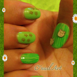 nailart bear ours stamping fimo