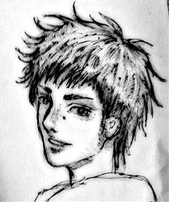 drawing pencil art black & white manga sketch art