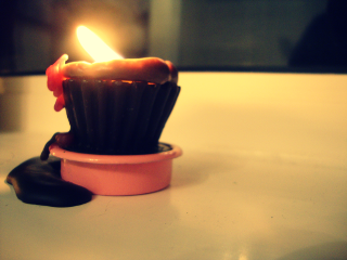 photography cupcakes candle fire