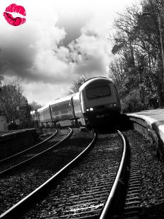 black & white train travel photography quirky
