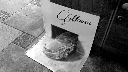 cars drawing pencil art black & white