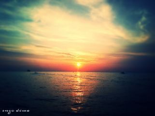 tramonto mare ischia napoli