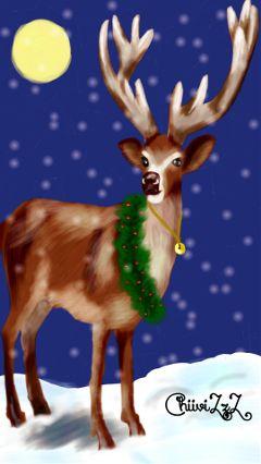 dcreindeer drawing christmas winter snow